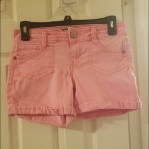 Hot pink lei shorts size 3